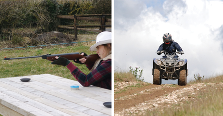Quad Biking and Air Rifles